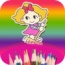 colouring-book-for-kids-doodle-draw-coloring-cartoon-girls-and-princess icon