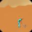 desert-golfing icon
