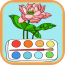 the-best-colouring-book-for-kids-making-the-flower-colorful-hd icon